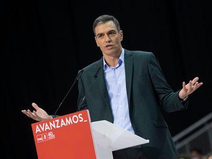 Spanish Prime Minister Pedro Sánchez in Valencia.