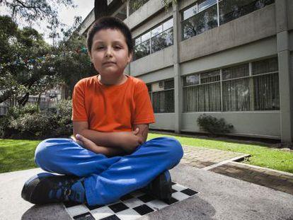 Nine-year-old UNAM student Carlos Santamaría.
