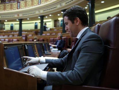 PP general secretary Teodoro García Egea in Congress this week.