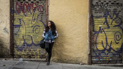 A young woman in Madrid.