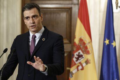 Spanish PM Pedro Sánchez in Athens on Monday.