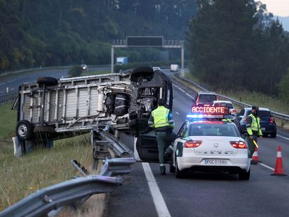 A traffic accident in Pontevedra, on April 14.