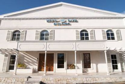 Meinl Bank headquarters in Antigua and Barbuda.