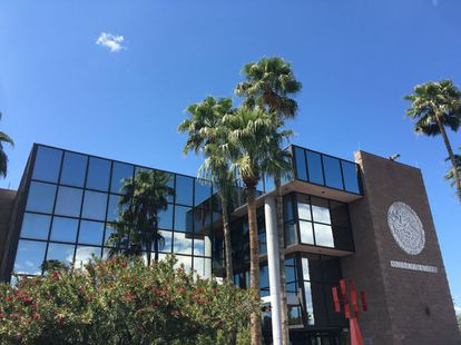 The Mexican consulate in Tucson, Arizona, headquarters of the CIAM.