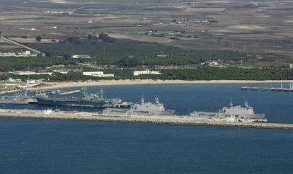Rota naval base.