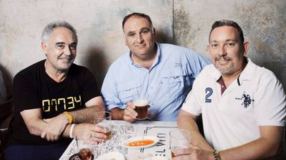 From left to right: Ferrán Adrià, José Andres and Albert Adrià.