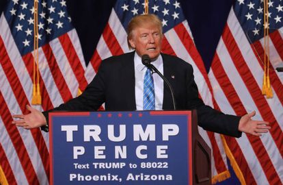 Donald Trump vowed to crack down on illegal immigration during a campaign event in Phoenix on Wednesday.