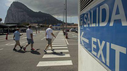 Pedestrians in Gibraltar.