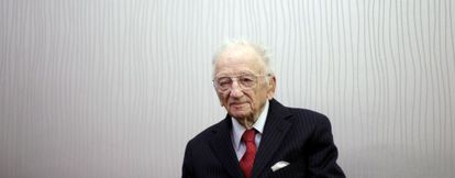 Benjamin B. Ferencz during his interview in Madrid.