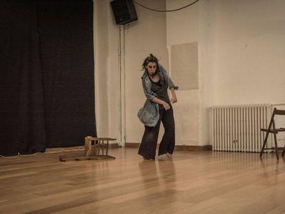 Dancer Carmen Tomé during a rehearsal.