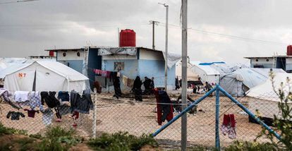 The Al Hol camp for ISIS family members in northeast Syria.
