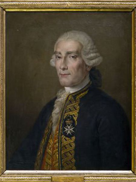 A portrait of Jorge Juan, by Rafael Tejeo.