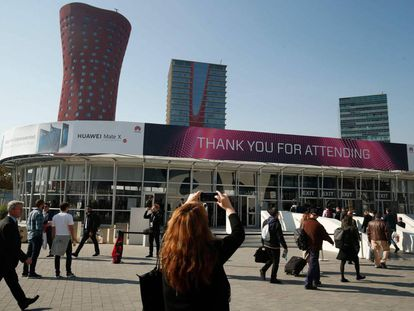 Visitors to last year's Mobile World Congress.