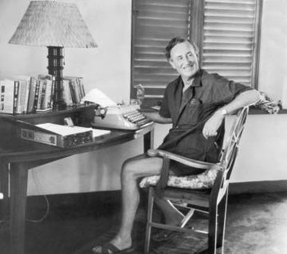 Ian Fleming at his Jamaica mansion, which he named Goldeneye.