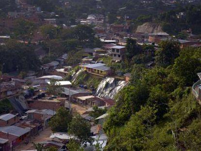 The slums of Segovia, in Antioquia