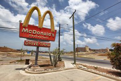 The entrance to the McDonald's at the Guantánamo naval base in Cuba.