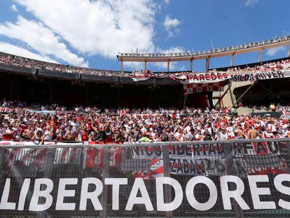 River fans at Monumental stadium last Saturday.