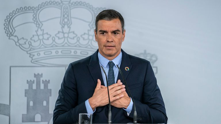 Spanish Prime Minister Pedro Sánchez on Tuesday.