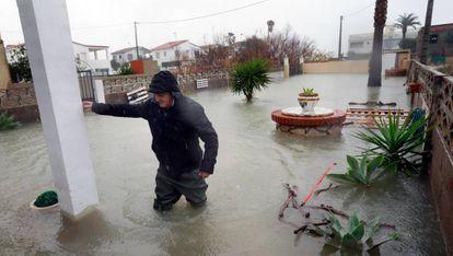 The impact of Storm Gloria in Almenara (Castellón).