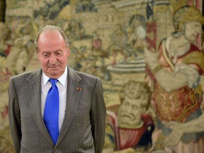 A file photo from April this year of King Juan Carlos.