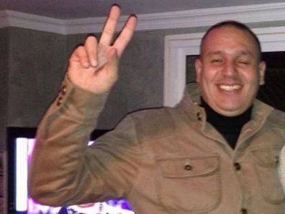 """""""El Nene"""" makes the victory sign in a personal photo taken in January."""