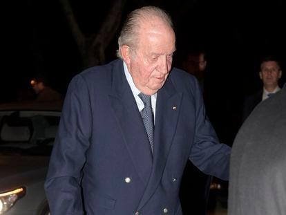Spain's king emeritus Juan Carlos in February.