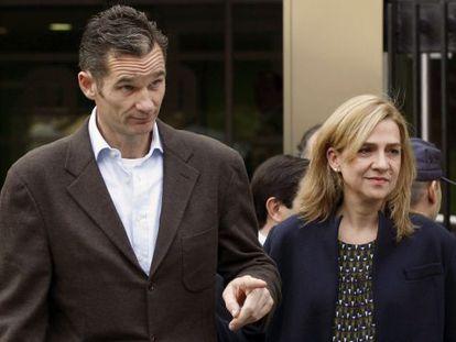 Cristina de Borbón with her husband Iñaki Urdangarin.