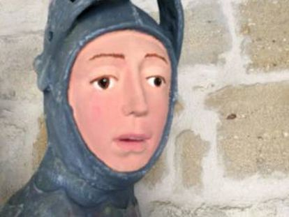 Image of the sculpture supplied by the ACRE restorers association.