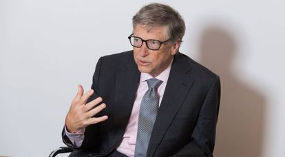 Bill Gates during the interview in London.