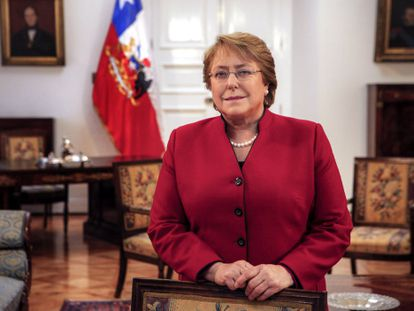 Chilean president Michelle Bachelet at La Moneda palace on June 23.