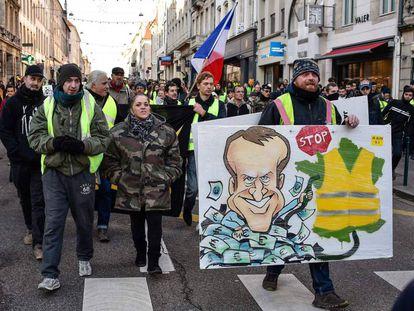 "A ""Yellow Vest"" demonstration in Nancy, France."