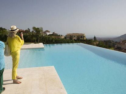Property investors at the La Zagaleta estate in Marbella, southern Spain.