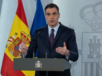 Prime Minister Pedro Sánchez on Saturday.