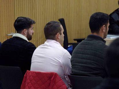 Members of La Manada at the trial in November.