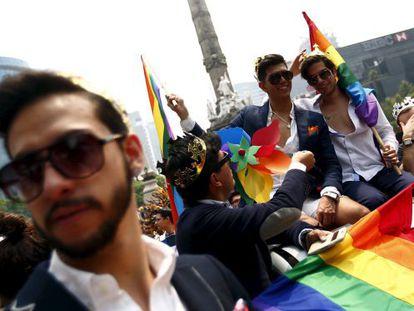 A Gay Pride parade in Mexico City.