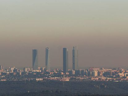 The skyline of the Spanish capital on Wednesday.