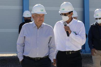 Mexican President Andrés Manuel López Obrador (left) in Baja California in February.