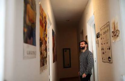Alberto Haj-Saleh in the home that he is being kicked out of to make way for a tourist apartment.