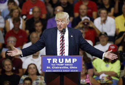 Donald Trump in Ohio on Tuesday.