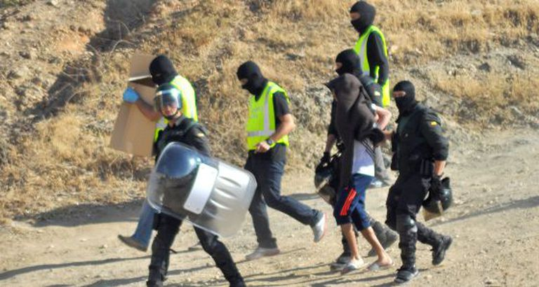 An operation against suspected jihadists in Ceuta last June.