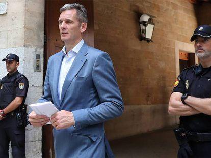 Iñaki Urdangarin leaving court last Wednesday.