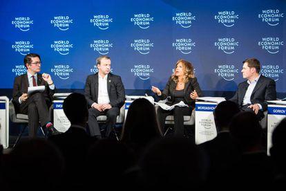 A debate at the Davos World Economic Forum.