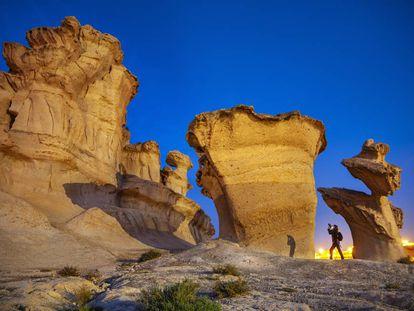 Rock formations at Bolnuevo beach in Mazarrón (Murcia).