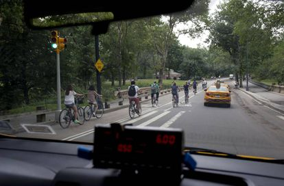 Cyclists in New York.