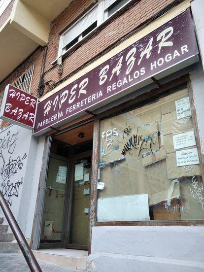 El bazar chino ya está cerrado en el distrito de la Cámara de Madrid.