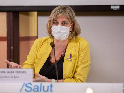 Catalan Health Chief Alba Vergés.