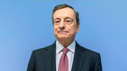 The president of the ECB, Mario Draghi, on Thursday in Frankfurt (Germany).