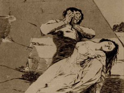 One of the prints by Goya that the Ateneo was prohibited from putting up for auction.