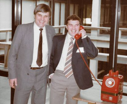 Vladimir Alexandrov (left) and his colleague Nick Lukyanov, in February,1985, in Japan