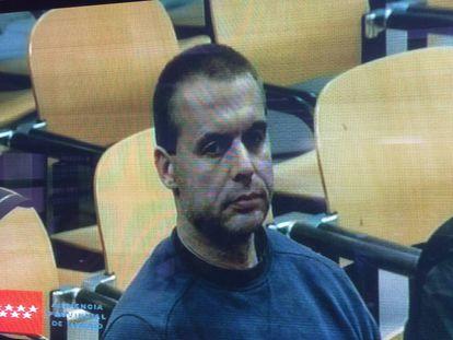 Antonio Ortiz during his trial in Madrid.